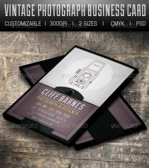 GraphicRiver Vintage Photograph Business Card