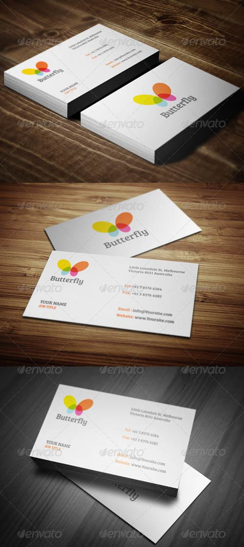 GraphicRiver Butterfly Business Cards