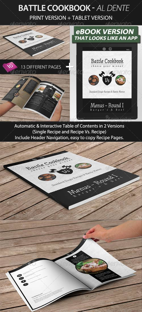 GraphicRiver Battle Cookbook - Food Recipe with tablet version