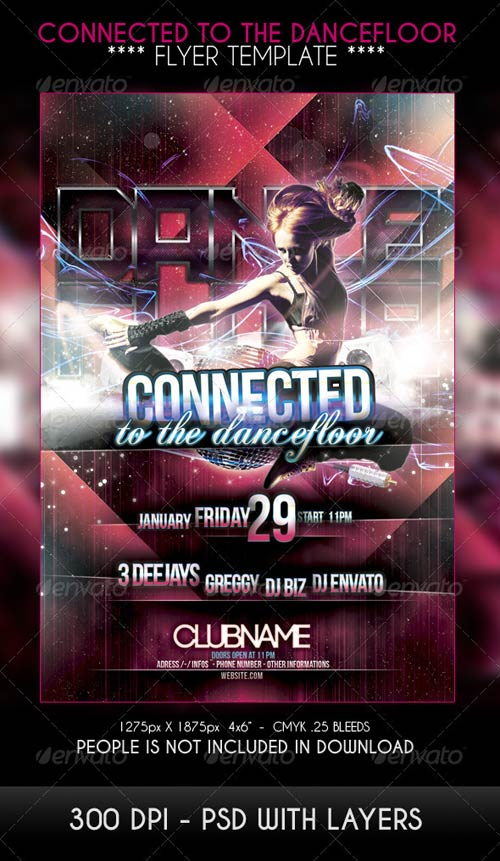 GraphicRiver Connected to the dancefloor Party Flyer