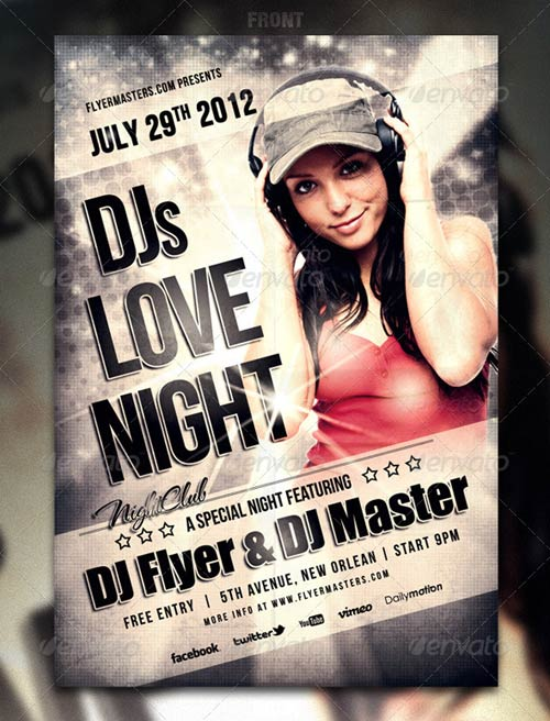 GraphicRiver Love Night Flyer / Poster