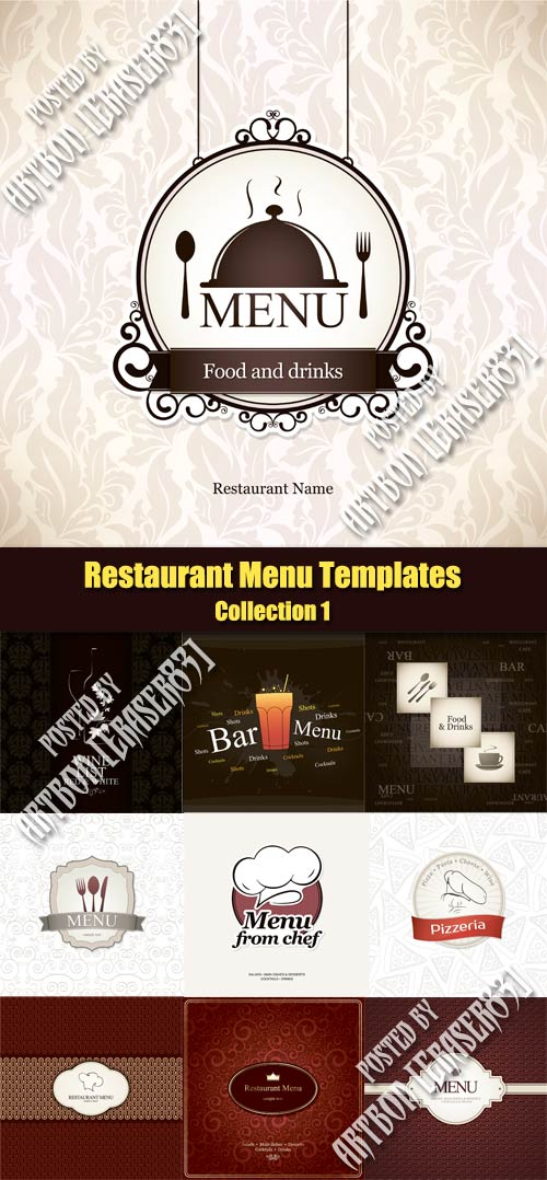 Vector Restaurant Menu Templates - Collection 1