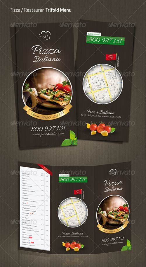 GraphicRiver Pizza / Restaurant Menu