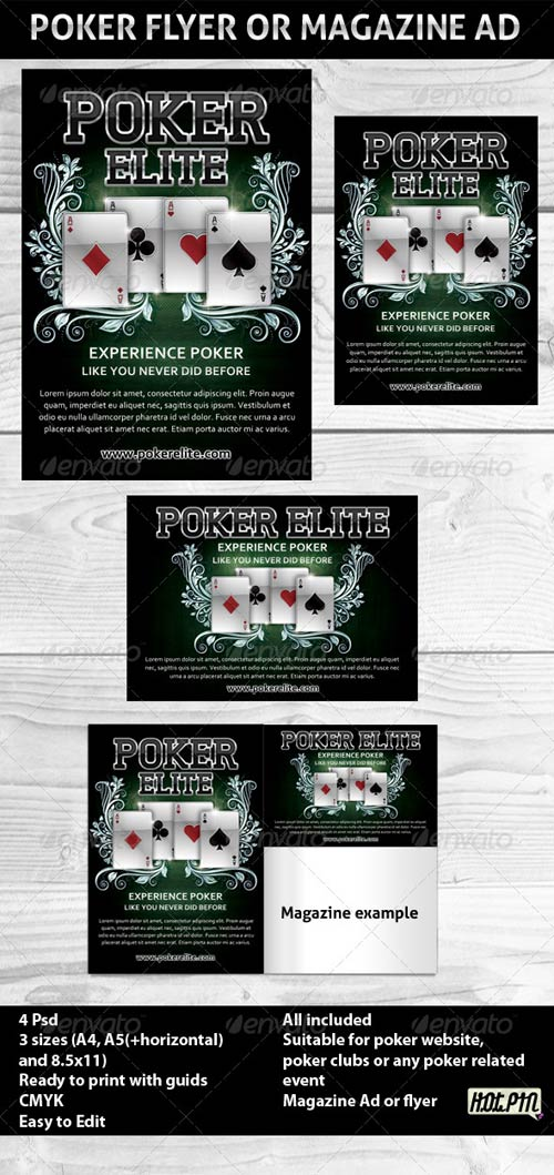 GraphicRiver Poker Magazine Ads or flyers Template 2