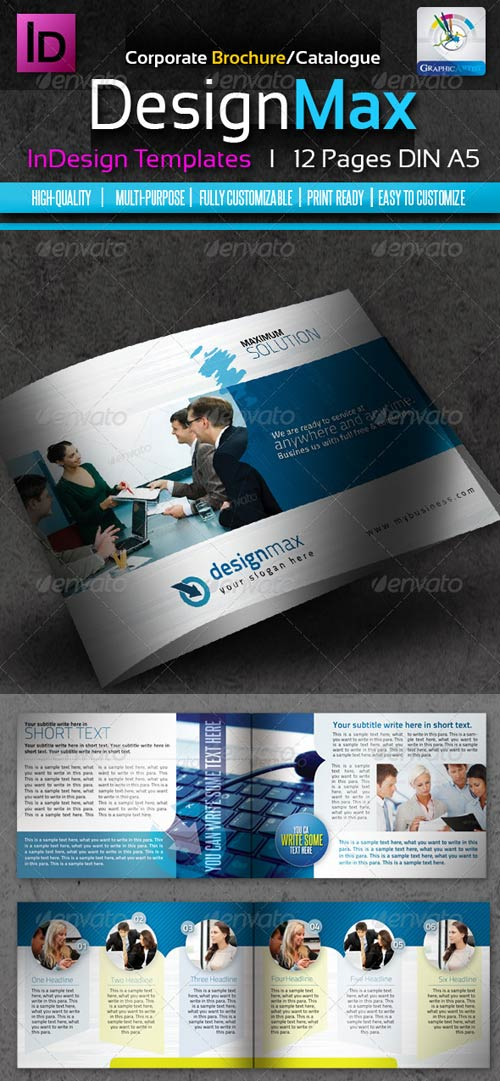 GraphicRiver DesignMax InDesign Brochure/Catalogue 12pages