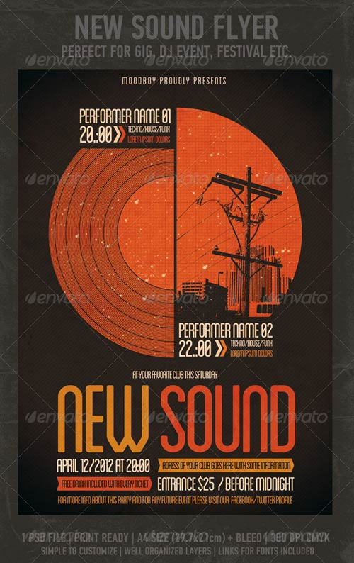 GraphicRiver New Sound Flyer/Poster