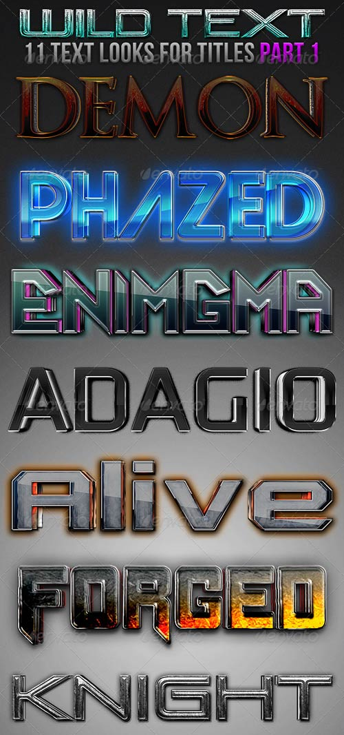 GraphicRiver Wild Text Effects Part 1