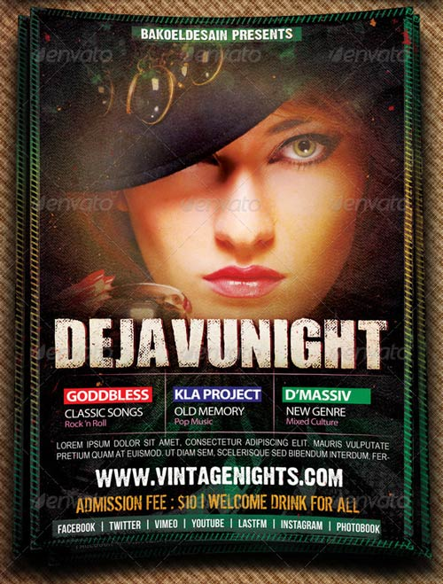 GraphicRiver Dejavu Night Music Flyer