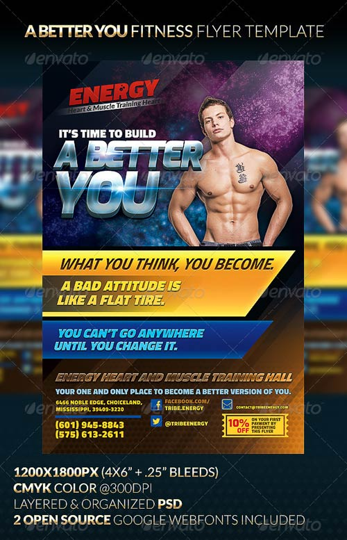 GraphicRiver A BETTER YOU Fitness Flyer Template