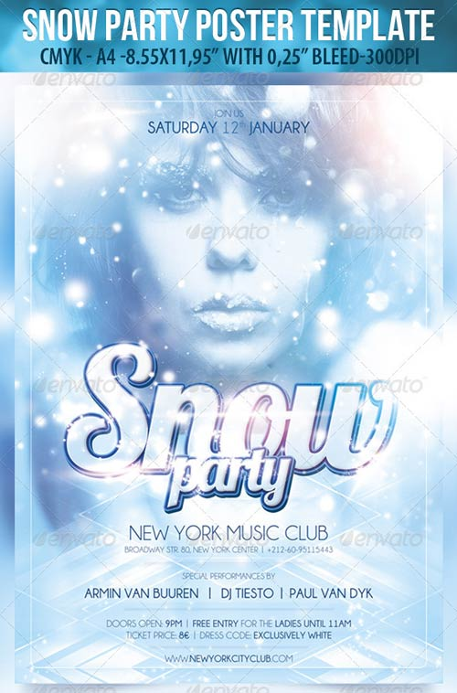 GraphicRiver Snow Party-Poster Template & Snow Party-Flyer Template
