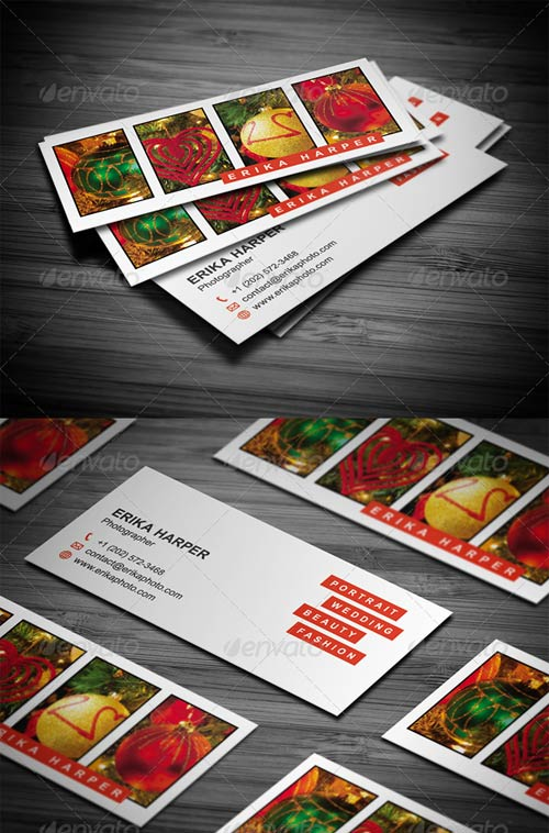 GraphicRiver Slim Photography Business Card