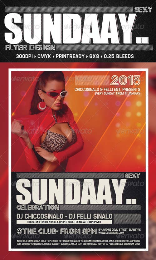 GraphicRiver Sexy Sunday Flyer Template