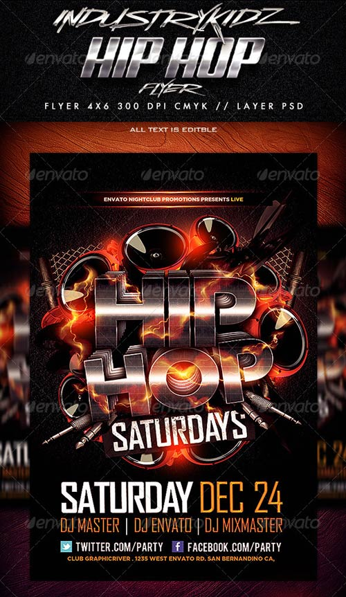 GraphicRiver Hip Hop Flyer Template