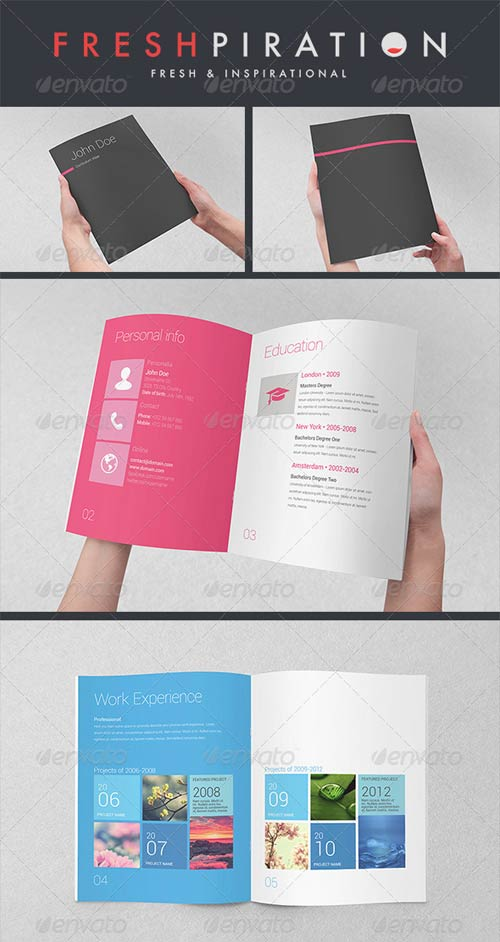 Resume Booklet Indesign GraphicRiver Metro Inspired Clean Resume Booklet (8 Pages)