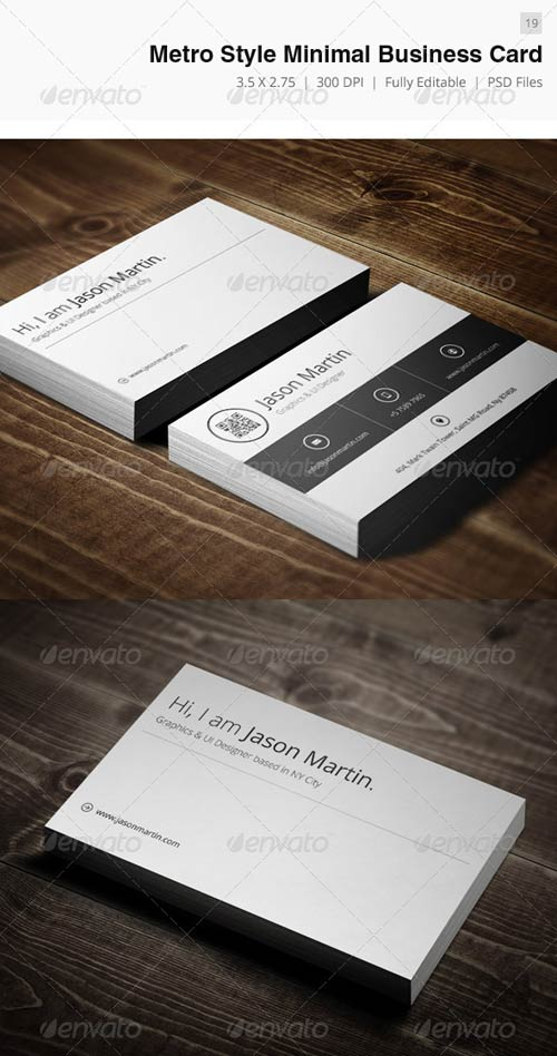 GraphicRiver Metro Style Minimal Business Card - 19