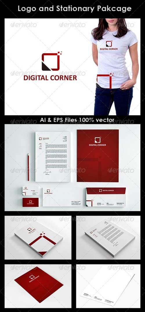 GraphicRiver Digital Corner Logo and Corporate Identity