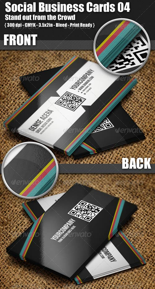 GraphicRiver Social Business Cards 04