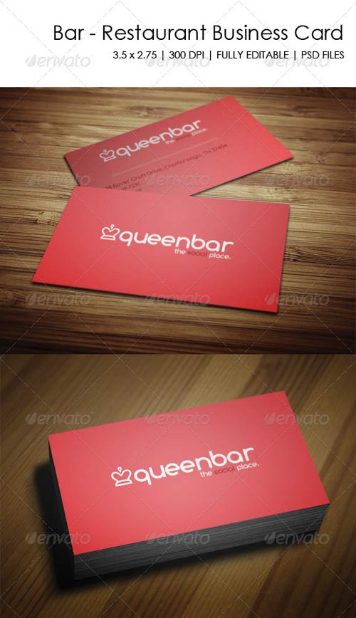 GraphicRiver Bar - Restaurant Business Card