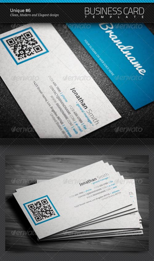 GraphicRiver Unique Business Card #6