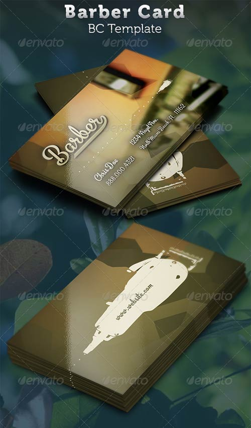 GraphicRiver Barber Business Card Template