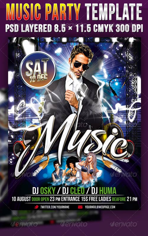 GraphicRiver Music Party Template