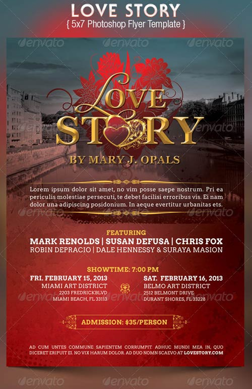 GraphicRiver Love Story Flyer Template