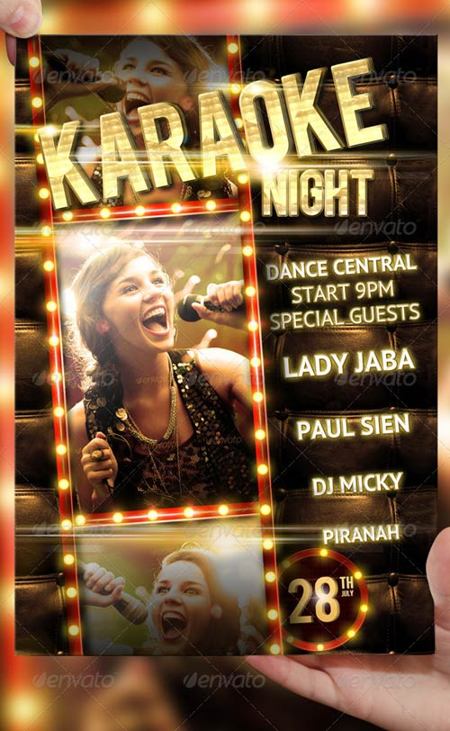 Karaoke Night Party Flyer Template
