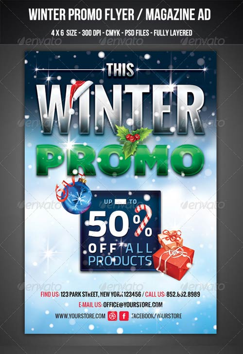 GraphicRiver Winter Promo Flyer / Magazine AD