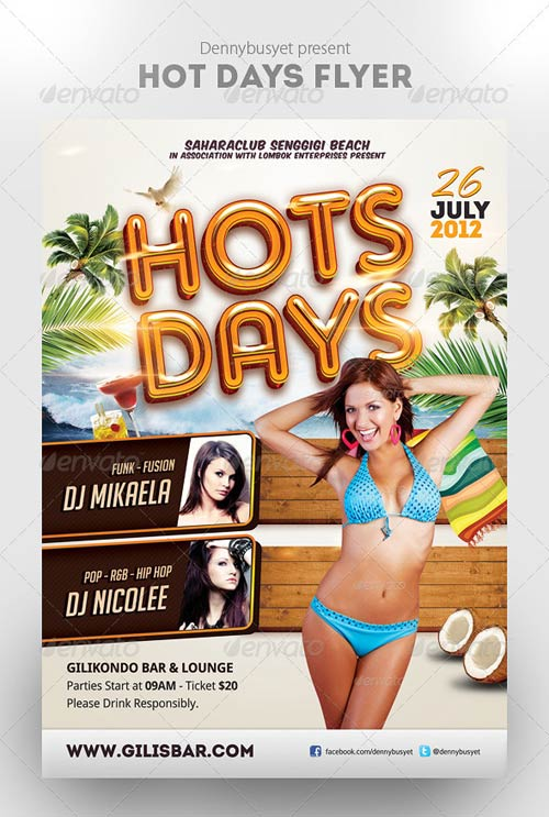GraphicRiver Hot Days Flyer Template
