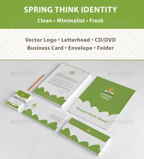GraphicRiver Spring Think Fresh Business Corporate Identity