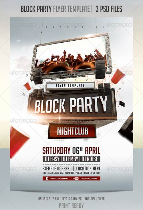 GraphicRiver Block Party Flyer Template