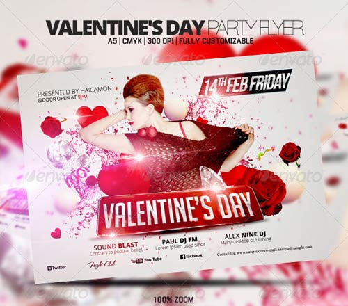 GraphicRiver Valentine's Day Party Flyer