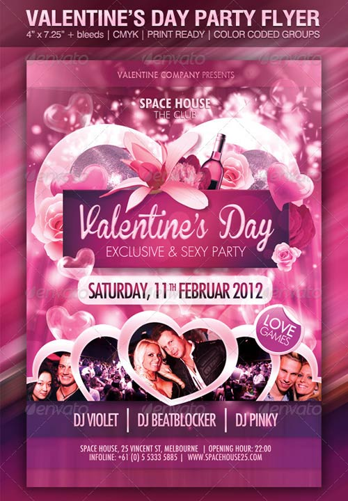 GraphicRiver Valentine's Day Party Flyer Template