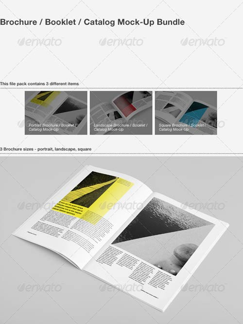 GraphicRiver Brochure / Booklet / Catalog Mock-Up Bundle