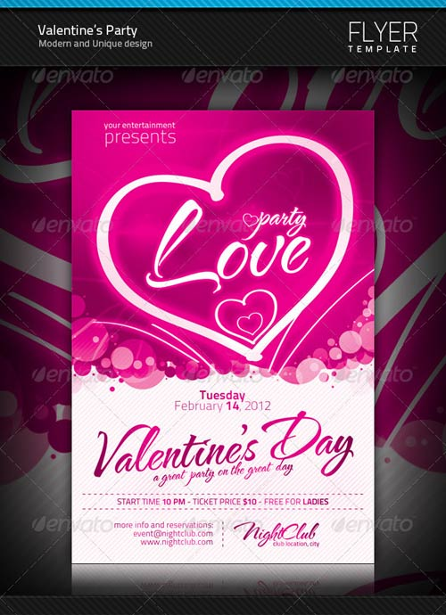 GraphicRiver Valentine's Party Flyer 1249567
