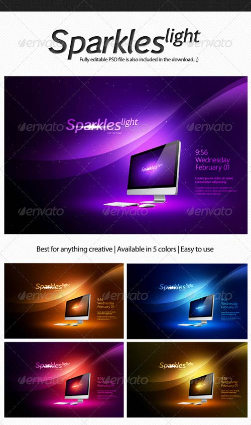 GraphicRiver Sparkles Light Product Background