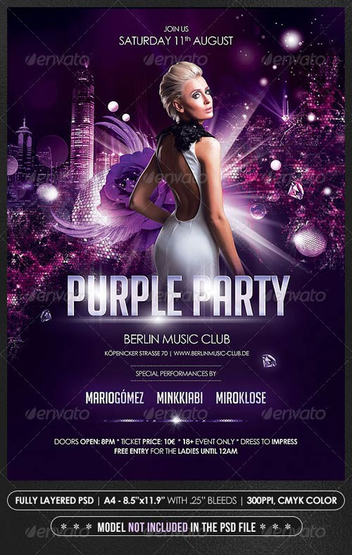 GraphicRiver Purple Party Poster/Flyer