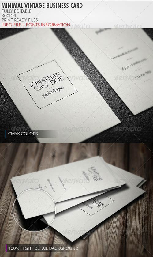 GraphicRiver Minimal Vintage Business Card