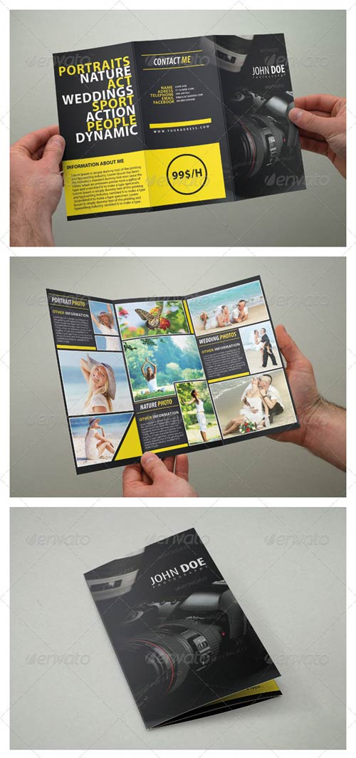 GraphicRiver Photography Brochure Tri Fold