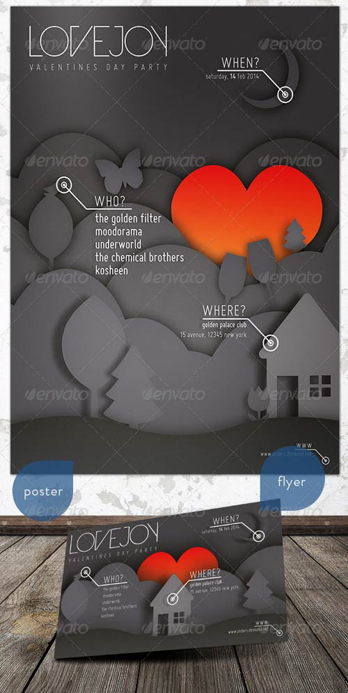 GraphicRiver Music & Event Flyer - Lovejoy