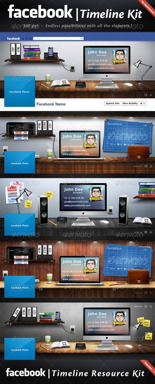 GraphicRiver FB Timeline Kit