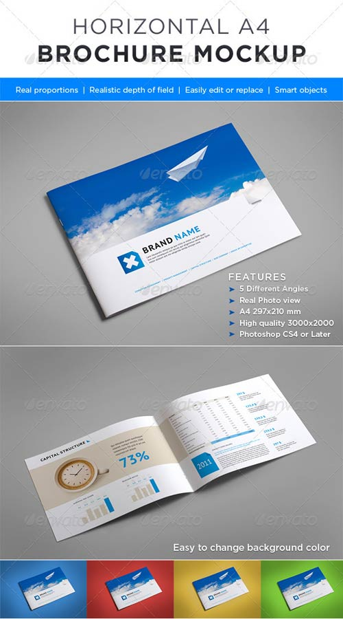 GraphicRiver Horizontal Brochure Mock-up