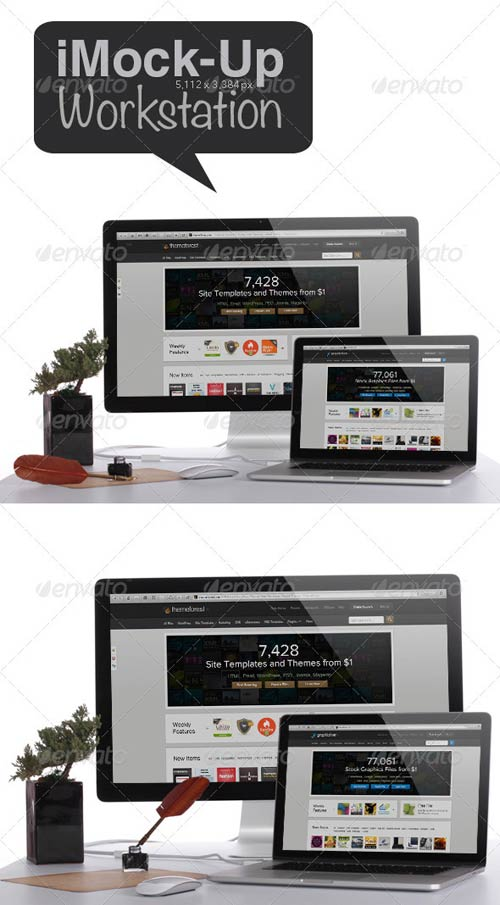 GraphicRiver Workstation Mock-up