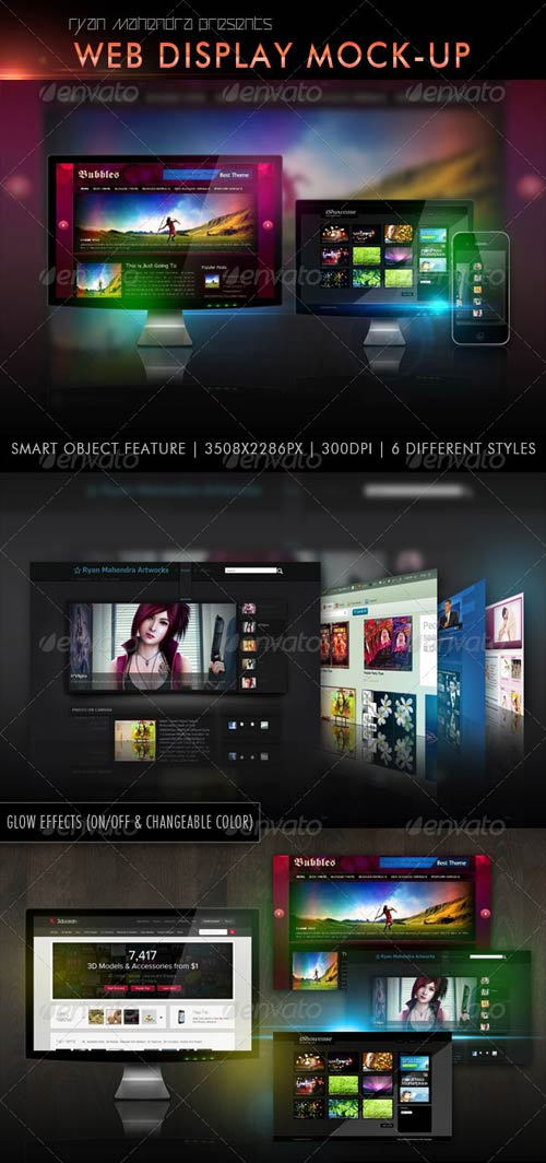 GraphicRiver Web Display Mock-Up