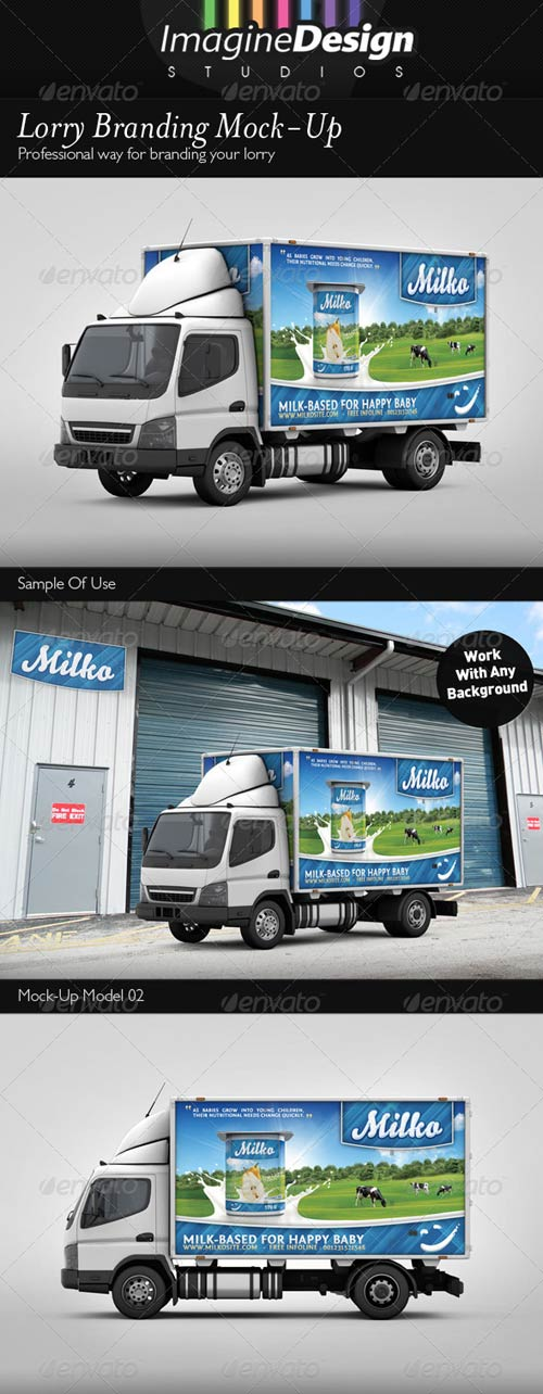 GraphicRiver Lorry Branding Mock-Up