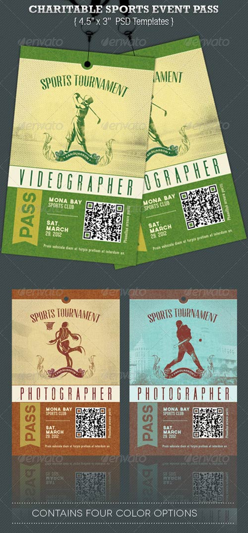 GraphicRiver Charitable Sports Event Pass Template
