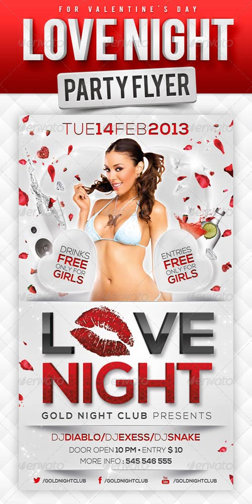 GraphicRiver Love Night Party Flyer