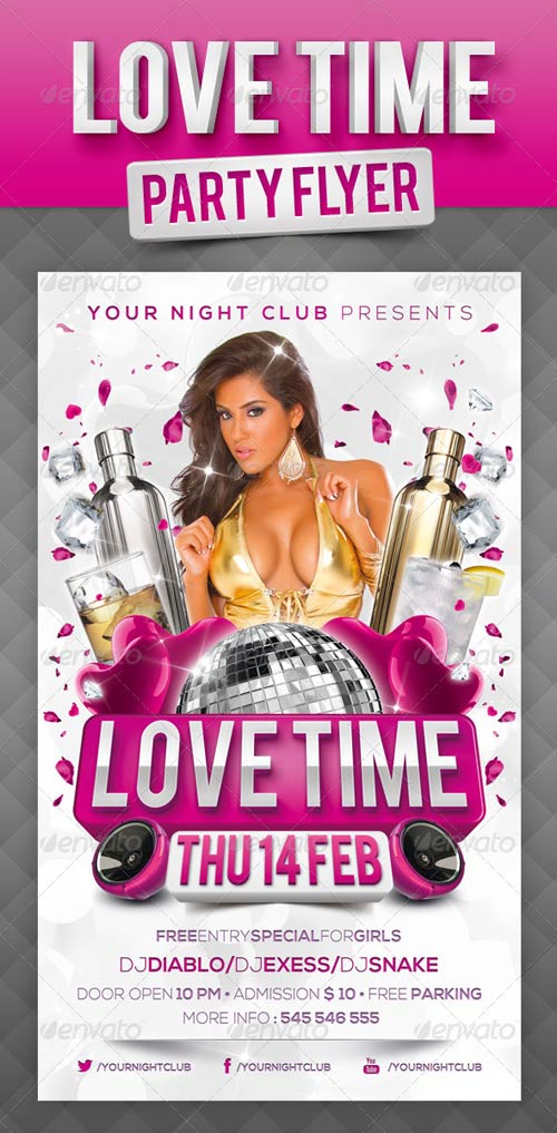 GraphicRiver Love Time Party Flyer