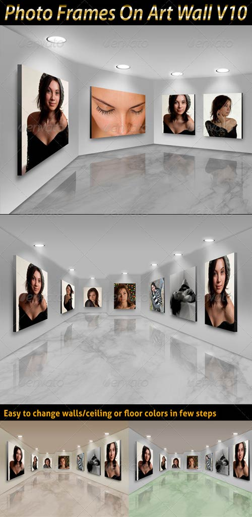 GraphicRiver Photo Frames On Art Wall V10