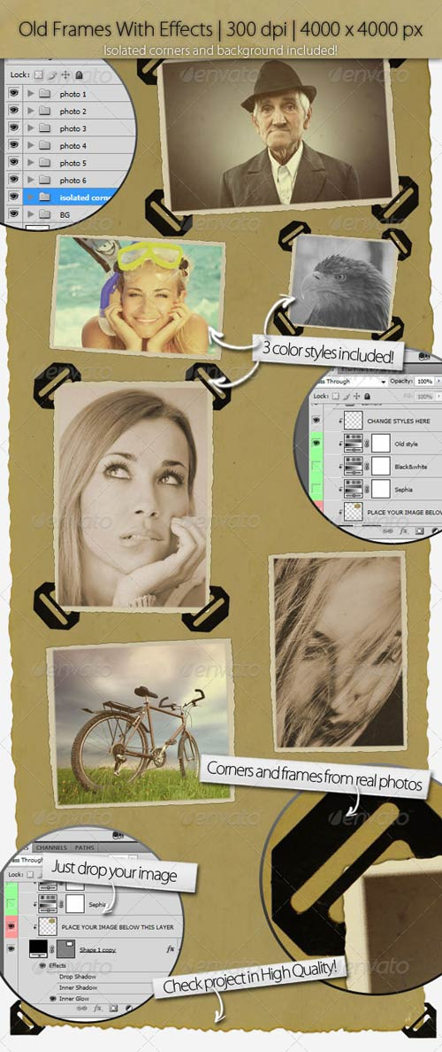 GraphicRiver Old Image Frames With Corners